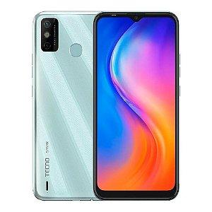 Telefone Celular Tecno Spark 6 Go Dual SIM Branco 64GB 4GB