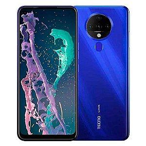 Telefone Celular Tecno Spark 6 KE7 Azul 128GB 4GB
