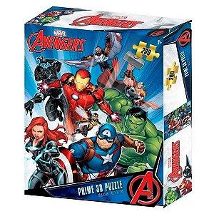 Quebra-Cabeça 3D Os Vingadores Zipper Box 200 Peças - BR1313