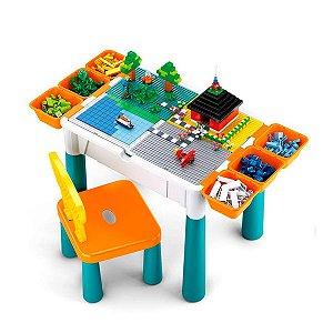 Mesa de Atividades Infantil Cubic 9 em 1 Multikids BR1212
