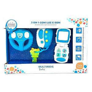 Brinquedo para Bebê com Luz e Som Azul - Multilaser - BR1245