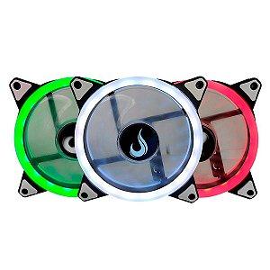 Kit Cooler Fan Rise Mode Led 3 Fans RGB 120mm RM-FN-02-RGB