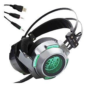 Headset Gamer Haiz 9200 Led Microfone Áudio em Ultrabass