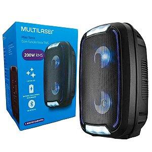 Caixa De Som 200w Multilaser SP336 Bluetooth/Fm/Usb/Sd/Aux