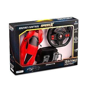 Carrinho De Controle Remoto Racing Control Speed X Multikids