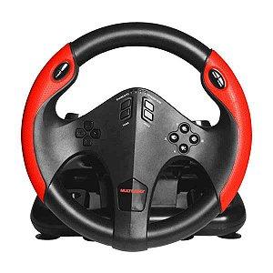 Volante Multilaser PS4, PS3, Xbox One, Pc, Com Pedal- JS087