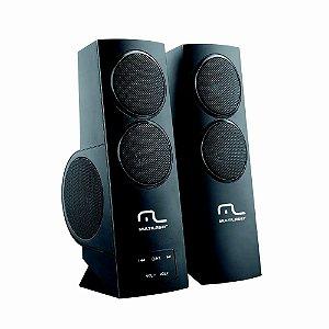 Caixa de som Gamer Multilaser super bass usb black sp152