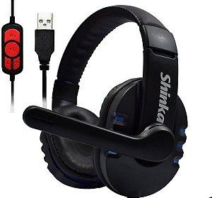 Headset Gamer com microfone usb shinka - q7