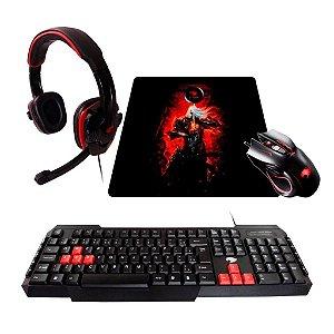Kit Gamer G-fire  mouse headset teclado mouse pad - ktt227e50114