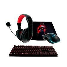Kit Gamer 4x1 - teclado semi mecânico, mouse, headset , mouse pad - kt1378p22214