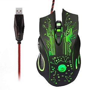 Mouse Gamer x9 shinka usb 2400 dpi usb 6 botões - preto shinka - x9