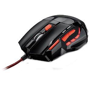 Mouse Gamer fire button usb 2400dpi preto e Vermelho - mo236