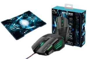 Mouse Gamer Multilaser Warrior  3200 dpi + mousepad - mo207