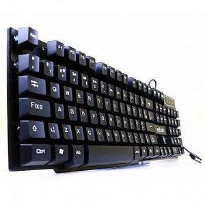 Teclado Gamer exbom usb tecla alta sensação mecânica - bk-150