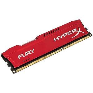Memória Gamer HyperX FURY 8GB 1866Mhz DDR3 CL10 Red - HX318C10FR/8
