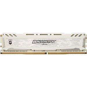 Memória Ram Ddr4 Crucial Ballistix 8gb 3200mhz white Branco-BLS8G4D32AESCK