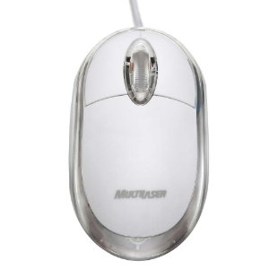 Mouse Multilaser Usb Classic Gelo - MO034