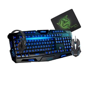 Kit Gamer Xpro Headset Mouse Mousepad e Teclado com Led