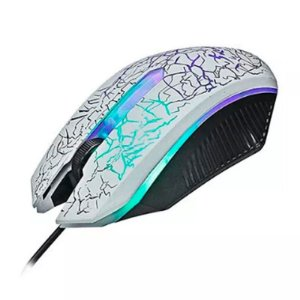 Mouse Gamer Knup Branco Kp-v14  com Led