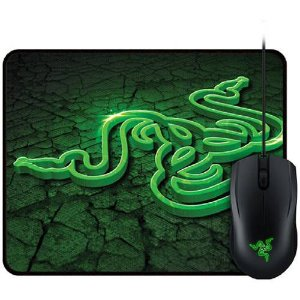 Kit Gamer Razer Combo - Mouse Abyssus + Mousepad Goliathus Fissure Control
