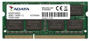 Memoria Adata Note DDR3 8GB 1600Mhz SODIMM-ad3s1600w8g11-s