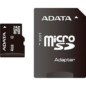 Cartão De Memória Adata 4gb Micro Sdhc Class 4-AUSDH4GCL4-RA1