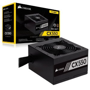 Fonte Corsair 550W 80 Plus Bronze CX550 - CP-9020121