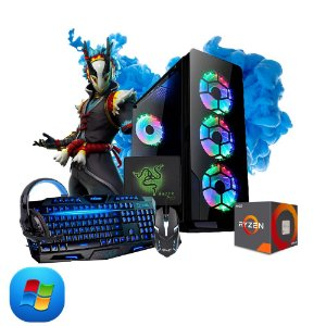 Computador Megatumi Gamer Amd Ryzen R3 3200G, 2x4gb, Hd 500gb e kit gamer
