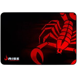 Mousepad Rise Scorpion Red Médio Costurado, Rg-Mp-04-Sr