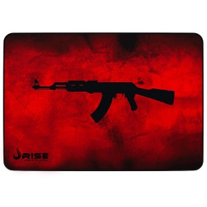 Mouse Pad Gamer Rise Mode Ak47 Red Grande Borda Costurada (420x290mm) - RG-MP-05-AKR