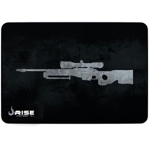 Mouse Pad Gamer Rise Mode Sniper Grey Grande Borda Costurada (420x290mm) - RG-MP-05-SNPG