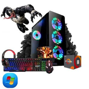 Computador Megatumi Gamer Amd Ryzen R3 3200G, 2x4gb, Hd 500gb, kit gamer semi-mecânico