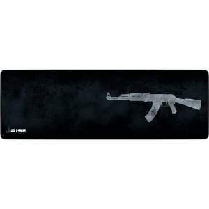 Mouse Pad Gamer Rise Mode Ak47 Grey Extended Borda Costurada (900x300mm) - RG-MP-06-AK