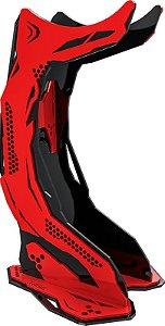 suporte de headset rise mode venon pro v3, vermelho e preto - rm-vn-05-br