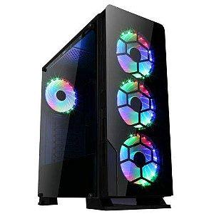 Gabinete Gamer Liketec Diamond 3 Fans Rgb Vidro Temperado