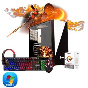 Pc Gamer Megatumi Amd Athlon 200GE, 2x4gb, Hd 500gb, kit gamer semi-mecânico