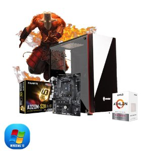 Computador Megatumi Gamer Amd Athlon 200GE, 2x4gb, Hd 500gb