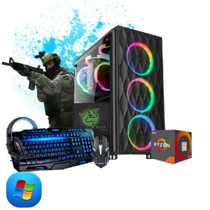 Computador Megatumi Gamer Amd Ryzen R5 3400G kit gamer