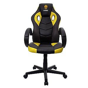 Cadeira Gamer Evolut Amarela e Preto Eg-901