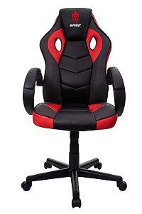 Cadeira Gamer Evolut Vermelho e Preto Eg-901