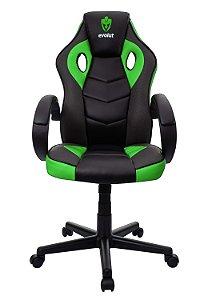 Cadeira Gamer Evolut Verde e Preto Eg-901