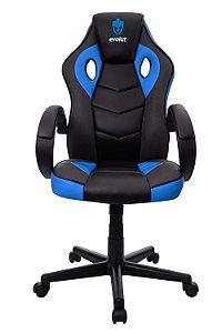 Cadeira Gamer Evolut Azul e Preto Eg-901