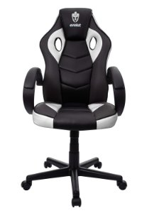 Cadeira Gamer Evolut Branco e Preto Eg-901