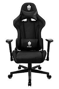 Cadeira Giratória Gamer Evolut EG-900 Reclinável Preta