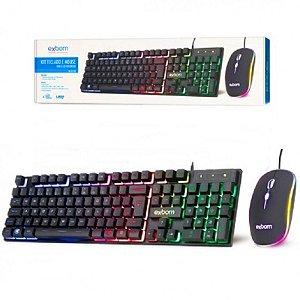 Mouse e Teclado Com Led Rgb Bk-G550