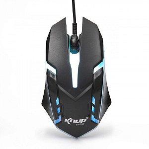 Mouse Gamer 1600dpi Branco/Preto Knup- Kp-V40