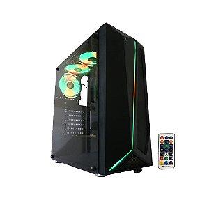 Gabinete Gamer Rise Mode Glass 05 Lateral de Vidro com 3 Fans RGB - RM-CA-05-RGB
