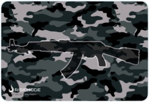 Mouse Pad Gamer Rise Mode Ak47 Military Medio Borda Costurada (290x210mm) - RG-MP-04-AKM