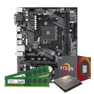 Kit Upgrade Gamer Megatumi Amd Ryzen R3 3200G Placa A320m 2x4gb