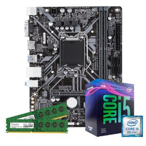 Kit Upgrade Gamer Megatumi Intel i5-9400f Placa H310m 2x4gb